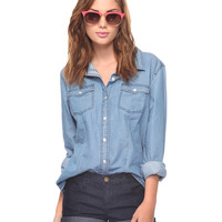 Chambray Button Up | FOREVER21 - 2011409801