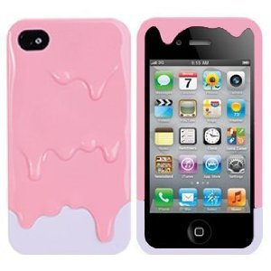 Amazon.com: Melt Melting Ice Cream Detachable Hard Protective Back Case Cover Set for iPhone 4S/iPhone 4 pink(bottom colors May Vary)+Gift 1pcs Insect Mosquito Repellent Wrist Bands bracelet: Cell Phones & Accessories