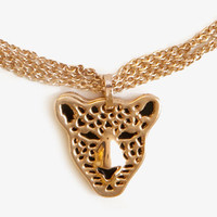 Cheetah Charm Necklace | FOREVER 21 - 1042926754
