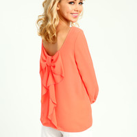 Bow Back Woven Blouse