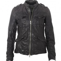 All Saints Post Commander Leather Jacket