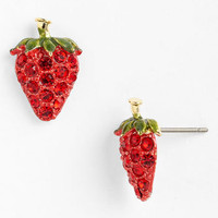 Cara 'Juicy Fruits' Raspberry Stud Earrings | Nordstrom