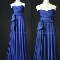 Royal Blue Maxi Dress Bridesmaid Dress Infinity Dress Wrap Convertible Dress Women Formal Evening