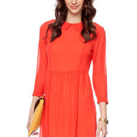 Peter Pan Out Dress in Red Orange :: tobi
