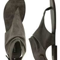 Back Buckle Leatherette Sandal | Shop Clearance at Wet Seal