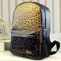 [grdx02107]Cool Leopard Sparking Backpack bag