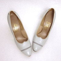 71/2 Vintage Grey Double Seam Heels