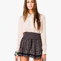 Studded Chiffon Shirt
