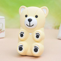 3D Cartoon Bear Silicone Back Case cover for Iphone 4/4s/5