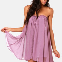 Blaque Label Anthology Strapless Lavender Dress