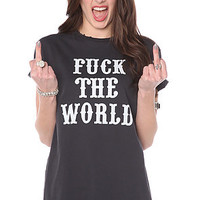 Bandit Tee Fuck The World Boyfriend in Black