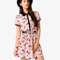 Dove Print Shirtdress