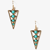 Cutout Triangle Dangle Earrings