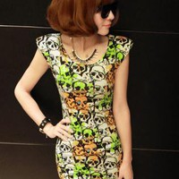 Skull Slim Dress S010466