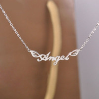 Angel Letters Collarbone Necklace