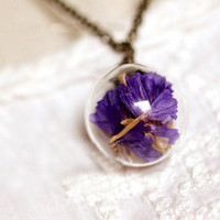 Natural Suddenly Eecstasy Flower Crystal Necklace Pendant