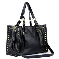 Creative Retro Rivet Shoulder Bag Messenger Bag Handbag