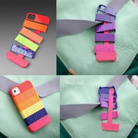 Neon Multi Stackable Hard Cover Case For Iphone 4/4s/5