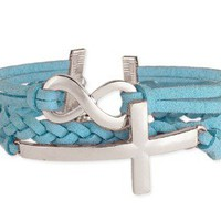 Suede & Cross Bracelet - AVAILABLE IN 3 COLORS!
