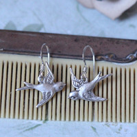 herro mr. sparrow indie earrings in silver