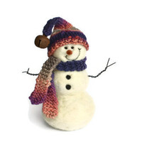 Snowman - Wool Needle Felted Snowmen - winter decor - 198
