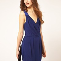 Vila | Vila Soft Tailored Cross Front Dress at ASOS