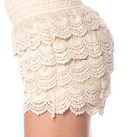 Crochet Lace Shorts - Ivory from Casual & Day at Lucky 21 Lucky 21