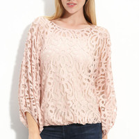 Gibson Lace Dolman Sleeve Top | Nordstrom