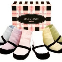 Amazon.com: Trumpette Mary Jane 6 Pair Box Set, Pastels Assorted, 12-24 Months: Clothing