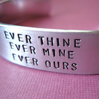 Custom Stamped Bracelet Cuff  Ever Thine Ever by TesoroJewelry