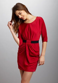 ideeli | BCBGMAXAZRIA Dolman Sleeve Waist Detail Dress