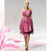 Silk Tulip Pod Dress  Made to Order wedding couture gown dress