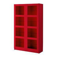 BERGSBO | Bookcase with glass doors