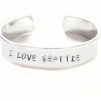 Custom I Love Seattle or City Sports Name Hand by JSCJewelry