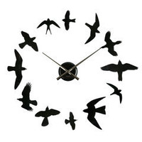 ideeli | PRESENT TIME DIY Birds Wall Clock