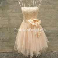 2013 style Charming A-line Sweetheart Mini Bowknot Prom Dresses from fashionforgirls