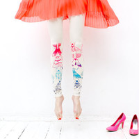 Neon bugs - print leggings