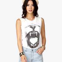 Lion's Roar Graphic Muscle Tee | FOREVER21 - 2035305733