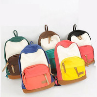 Sweet Colors Women Lady New Canvas School Campus Book Backpack Shoulder Bag