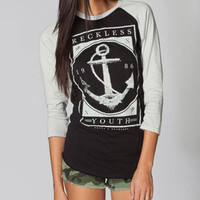 YOUNG &amp; RECKLESS Bon Voyage Womens Baseball Tee