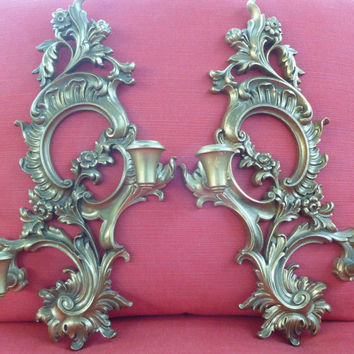 Vintage Gold Wall Sconces