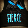 Fierce Sports Bra with Mathching TikTok Bow by ThingsToCheerAbout