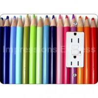 Coloring Pencils Horizontal Light Switch and Outlet Plate Covers Grounded GFI Outlet