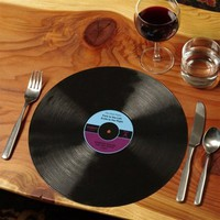 "RECORD PLACEMATS (Set of Two, Diameter 12"")"