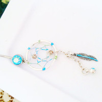 Dreamcatcher belly button ring   by DreamReel on Etsy