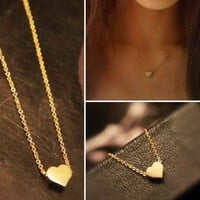Heart Necklace in Gold, Silver &amp; Rosegold