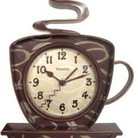 Amazon.com: Westclox 32038 Coffee Mug Quartz Wall Clock: Electronics