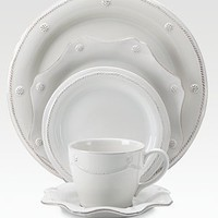 Juliska - Berry &amp; Thread Stoneware Saucer/White - Saks.com