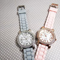 Paved Face Geneva Chevron Watch from JuicyDealz
