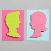 lovely silhouette sticky notes